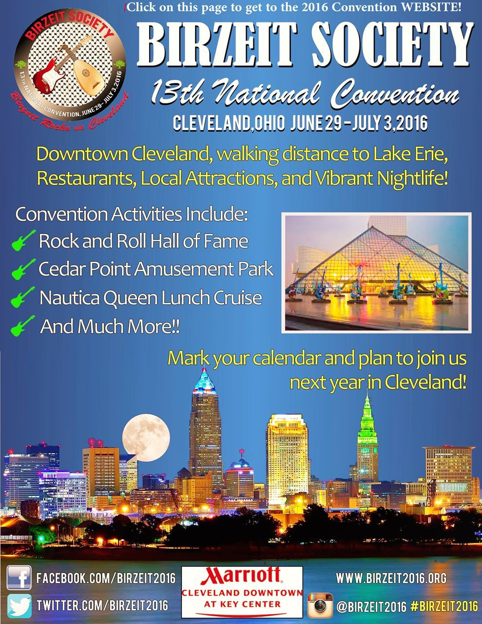 Click on this flyer to get to the 2016 convention website!